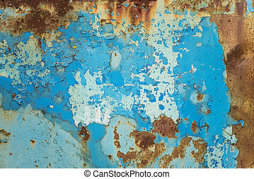 Multicolored metal surface - Multicolored background: rusty...