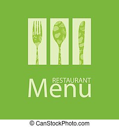 メニュー, カード, レストラン