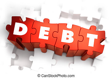 Debt - White Word on Red Puzzles. - Debt - White Word on Red...