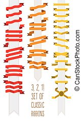 Vector set of classic ribbons for your design