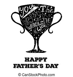 Print for fathers day - Gublet with hand lettering for...