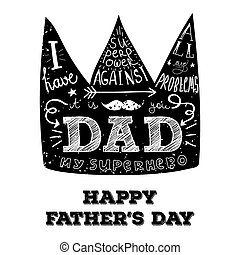 Print for fathers day - Crown with hand lettering for...