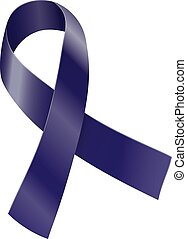 Ribbon - Purple indigo ribbon Cancer survivor, targeted...