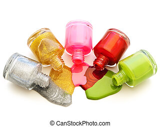multicolored liquid lacquer - photo of the multicolored...
