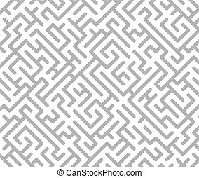 Maze background - Gray and white maze background