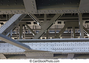 steel trusses - Steel structure of the old Ship lift of...