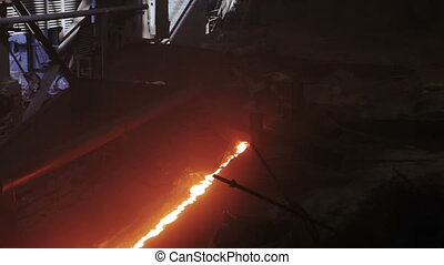 Canal with hot iron - Production of hot iron channel of...