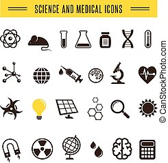 Scientist pack - Research, Bio and chemistry icons
