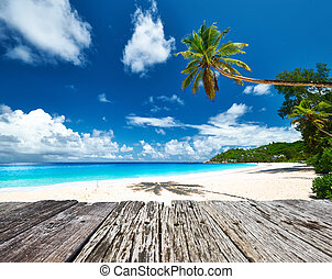 Beautiful beach at Seychelles - Beautiful beach and old...
