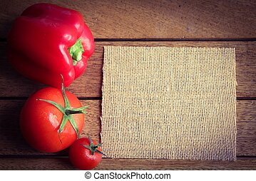 Red Veg Background