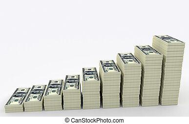 Big money stack. Finance concepts - Illustration of big...