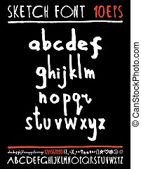 English handwriting alphabet figures