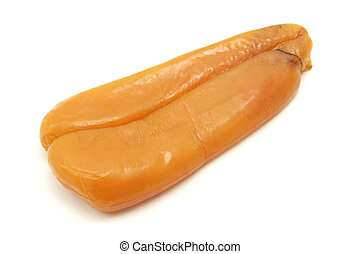 Bottarga di Muggine on a white background