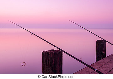 Beautiful sunset in lake Balaton-HungaryMinimal color style...
