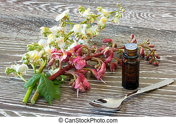 Bach flower remedies of red and white chestnut - Bach flower...