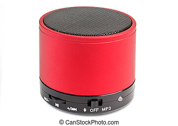 Bluetooth loudspeaker - Black and red Bluetooth loudspeaker...