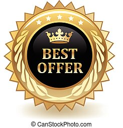 Best Offer Badge - Best offer gold badge