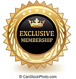 Exclusive Membership Badge - Exclusive membership gold...