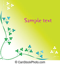 clover foliage with space for text