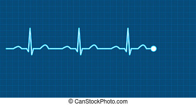 ECG Vector Illustration - Vector illustration of a heart...
