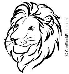 lion - head of a lion