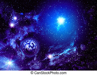 Universe Background - Colorful background of deep space with...