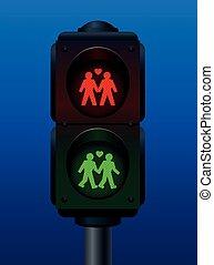 Gay Traffic Pedestrian Light