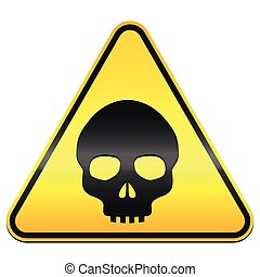 Hazard Warning Sign Skull