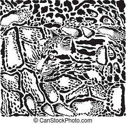 Background with leopard skins