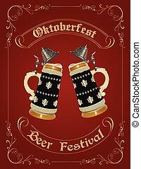 Oktoberfest celebration design with german beer stein