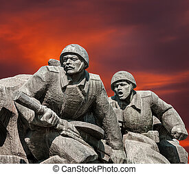 WW2 memorial in Kiev - Soviet era WW2 memorial in Kiev...
