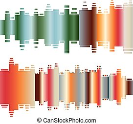 Abstract colorful gradient indicator set. Abstrsct vector background