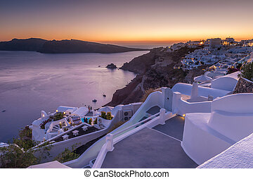 Sunset in Oia, Santorini - Typical summer sunset in Oia...