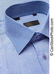 Blue shirt - Close up shots of blue striped man's shirt
