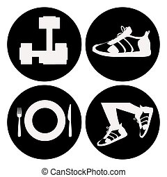 Healthy Lifestyle design over white background, vector...