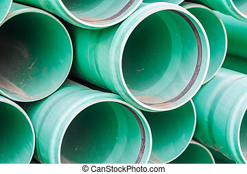 Plastic pipes for building