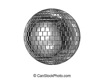 Disco ball isolated - Ball consisting of many small mirrors...