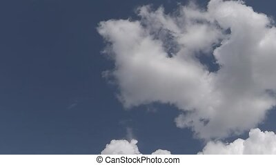 cumulus cloud time lapse - Beautiful white cloud with the...