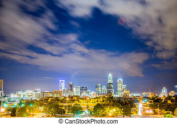 Downtown of Charlotte  North Carolina skyline