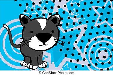 cute cat cartoon background