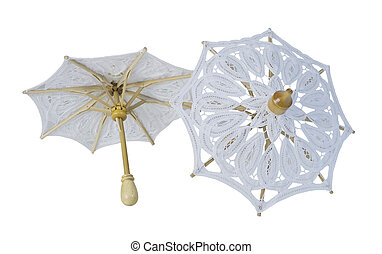 Lace Umbrellas with Sturdy Handle - White Lace Umbrellas...