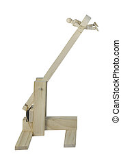 Person in a Wooden Catapult - Person in a wooden catapult...