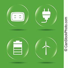 energy icons design, vector illustration eps10 graphic