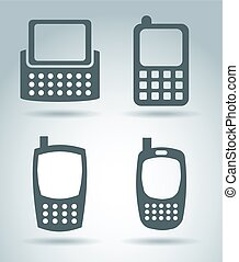 cellphone design over gray background vector illustration