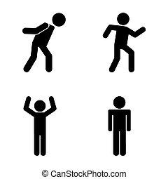 human figure design, vector illustration eps10 graphic