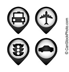 gps pins - gps pin design, vector illustration eps10 graphic
