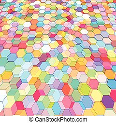 Abstract background with colorful hex polygons - Abstract...