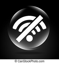 wifi signal design, vector illustration eps10 graphic