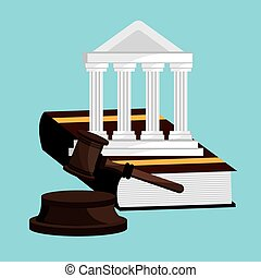 Law design - Law design over white background, vector...