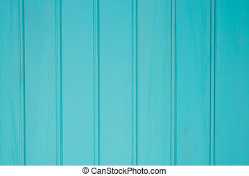 Turquoise wood boards background